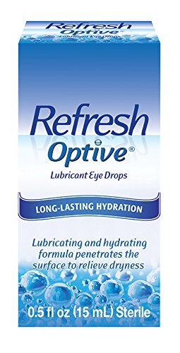 Refresh Optive Lubricant Eye Drops, 0.5 Fl Oz (15mL) Sterile