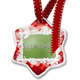 Christmas Ornament Keep Calm Spa Stones Rocks, red - Neonblond
