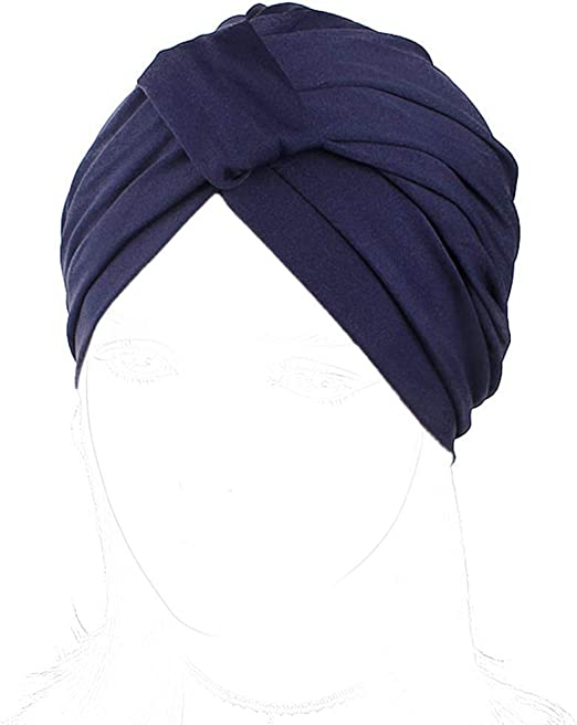 Polyester Fabric Front Pleat Elastic Fashion Hair Turban Headband