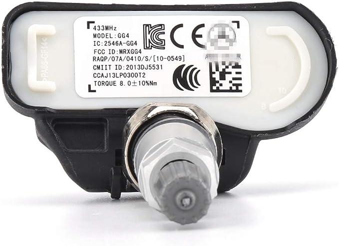 NO LOGO LLB-LUNTAI 4PCS for Mercedes Intelligente for C E S CL CLA CLS G GL GLK A0009050030Q03 la Pression des pneus TPMS capteur Moniteur capteur de Pression des pneus