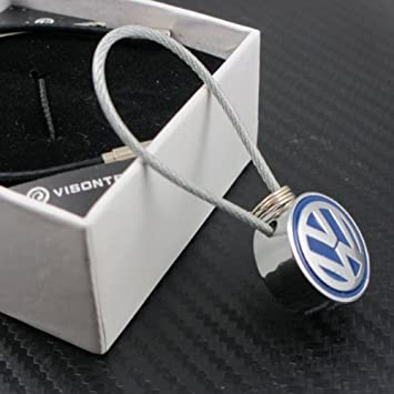 Amazon.com: VW Volkswagen Azul Logo Cable de alambre ...