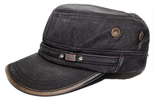 Vintage Cotton Cadet Cap Military Army Camo style Hat Cap - Burberry Junior