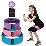Hip Resistance Bands, Fabric Hip Bands for Booty Building, Strength Training and Physical Therapy, Non-Slip Exercise Bands Loops for Legs and Butt, Set of 3 For Sale