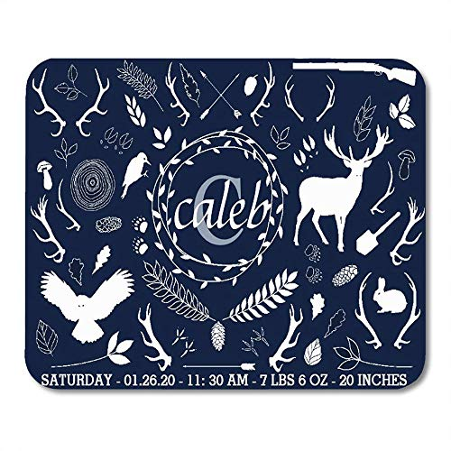 - LIminglove Navy Newborn Woodland Baby Boy Nursery Birth Stats Blue Announcement Gaming Mouse Pad,Non-Slip and Dust-Proof Mouse,Funny Creative Mouse pad