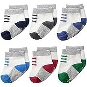 Carter's Baby-Boys Newborn Sneaker Socks (Pack of 6)
