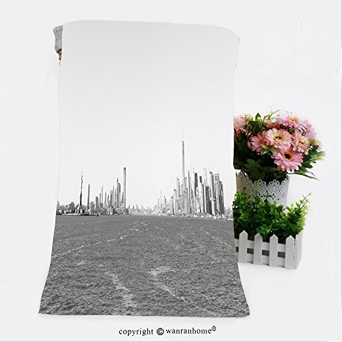 VROSELV Cotton Microfiber Bathroom Bath Towel-panoramic view of new york city taken from the ferry to staten island Custom pattern of household - Boutiques Staten Island