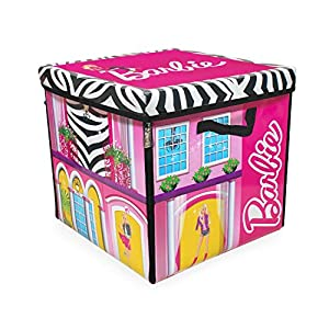 51WCBiIcv4L. SS300  - Barbie ZipBin 40 Doll Dream House Toy Box and Playmat, Styles May Vary