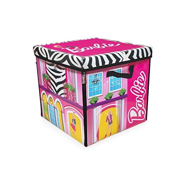51WCBiIcv4L. SS600  - Barbie ZipBin 40 Doll Dream House Toy Box and Playmat, Styles May Vary