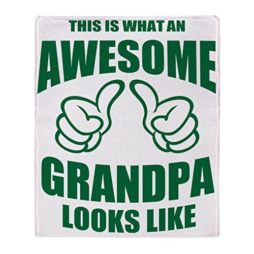 CafePress Awesome Grandpa Soft Fleece Throw Blanket, 50