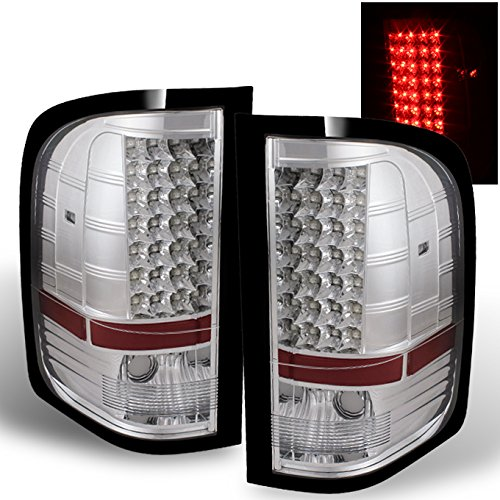 For Chrome 07-13 Siverado Pickup Full LED Tail Lights Brake Lamp Replacement Driver And Passenger Side