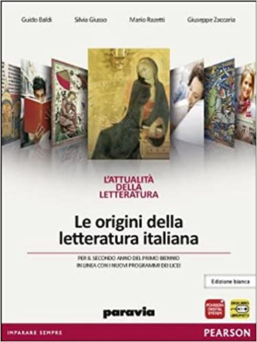 verifiche paravia letteratura italiana