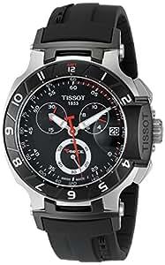 Tissot Men's T0484172705100 T-Race Black Chronograph Dial Watch
