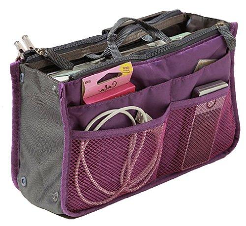 BlueBeach Handtaschenordner Taschenorganizer Einlage Tasche in Tasche Reise einfügen Beutel (Lila)
