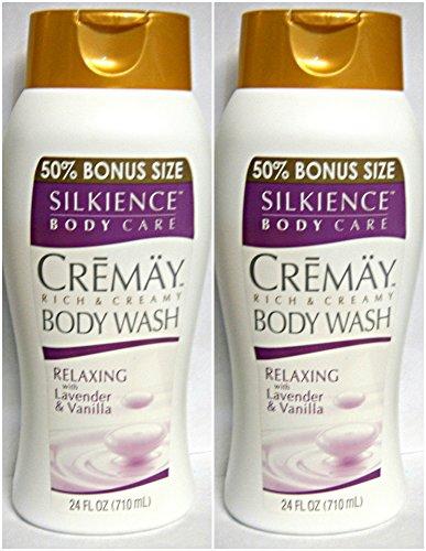 2 - CREMAY SILKIENCE RICH & CREAMY BODY WASH RELAXING LAVENDER & VANILLA 24 Oz (Lavender Creamy)