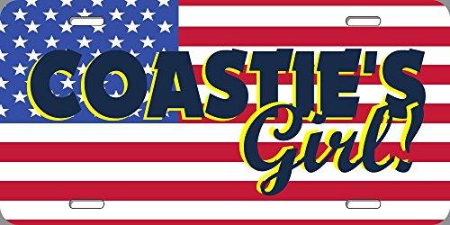 BuildASign Coastie's Girl! Military Novelty License Plate - 6