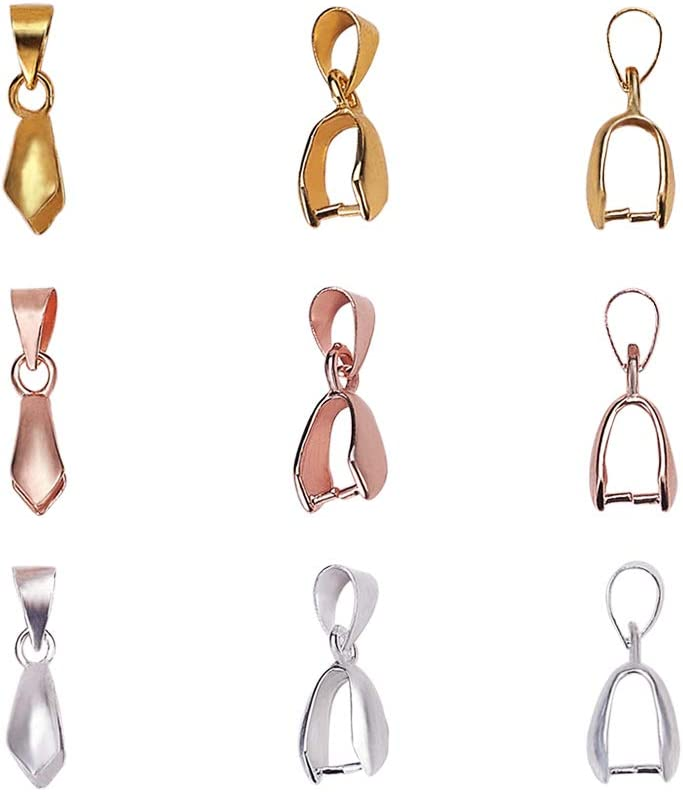 100pcs Assorted Stainless Steel Metal Pendants Quality Charms Findings 9-19mm
