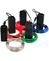 Zitrades EL Wire Red Blue Green White Pink Neon Glowing Strobing 9ft Electroluminescent Wires 4 Modes Battery Operated For Cosplay Dress Halloween Christmas Party Decoration Indoor Ourdoor