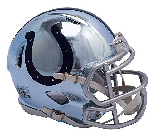 Indianapolis Colts - Chrome Alternate Speed Riddell Mini Football Helmet - New in Riddell -