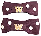 NCAA Washington  Huskies Bow Pigtail Holder