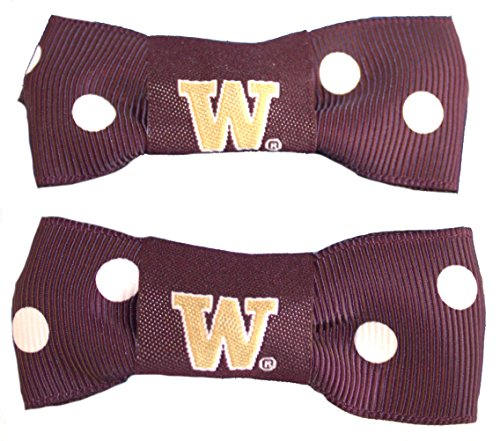 NCAA Washington  Huskies Bow Pigtail Holder by Littlearth