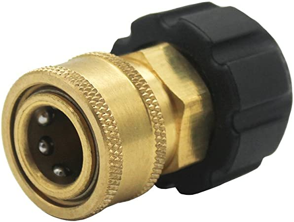 """PRESSURE WASHER QUICK COUPLER 3//8/"""" MALE X 3//8/"""" MPT"""