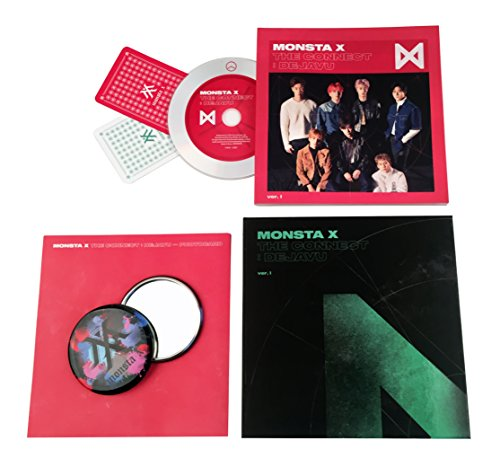 THE CONNECT : DEJAVU [ Ver. I ] - MONSTA X Album CD + Booklet + 2 Photocards + FREE GIFT / K-POP Sealed