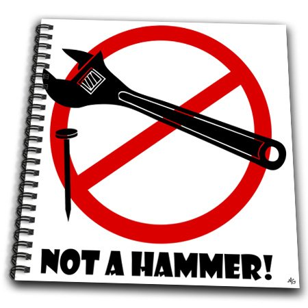 db_18073_1 Mark Grace SCREAMNJIMMY Hand Tools - NOT A HAMMER wrench image 1 - Drawing Book - Drawing Book 8 x 8 inch