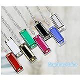 2 Pcs Popular Selling Cute Mini Harmonica 4 Hole 8 Tone Necklace