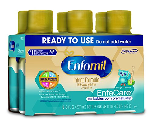 Enfamil  EnfaCare Baby Formula - Ready-toUse 8 fl oz Plastic Bottles ,6 Count (Pack of 4)