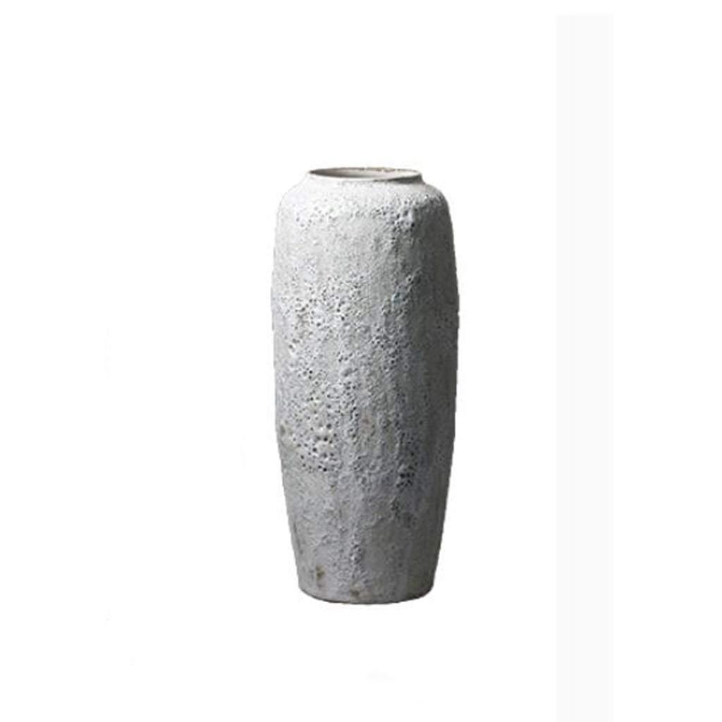 HBJP セラミック花瓶手作りクラフト花瓶リビングルームドライフラワー装飾フラワーポットグレー 花瓶 (Size : 16×65×28cm) B07SHXXY53  16×65×28cm
