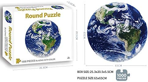 Earth Round Jigsaw Puzzle Earth Puzzle Jigsaw Puzzle 1000 Pieces for Adult