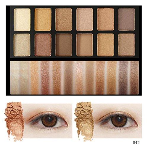 Binmer(TM) 12 Colors Mixed Pearlescent Matte Eyeshadow Eye Shadow Make Up Textured Pallette (D)