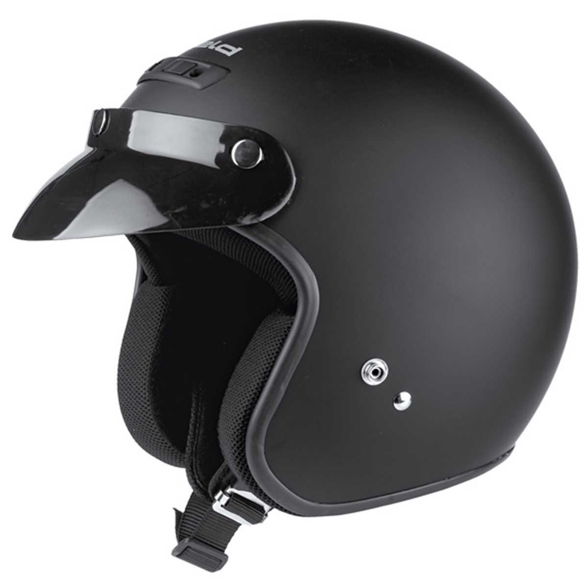 Gr/ö/ße M Held Rune Jet-Helm Schwarz-Matt