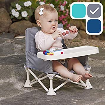 5c1925dc09fd hiccapop Omniboost Travel Booster Seat with Tray for Baby | Folding  Portable High Chair for Eating,...