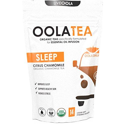 Oola Tea - SLEEP 14 Count | Certified Organic Citrus Chamomile | Improves Sleep | Reduces Stress