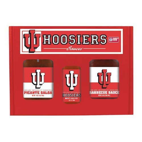 Indiana Hoosiers Hot Sauce (Hot Sauce Harrys 6245 INDIANA Hoosiers TailGate Hot Sauce BBQ Salsa by Hot Sauce Harry's)