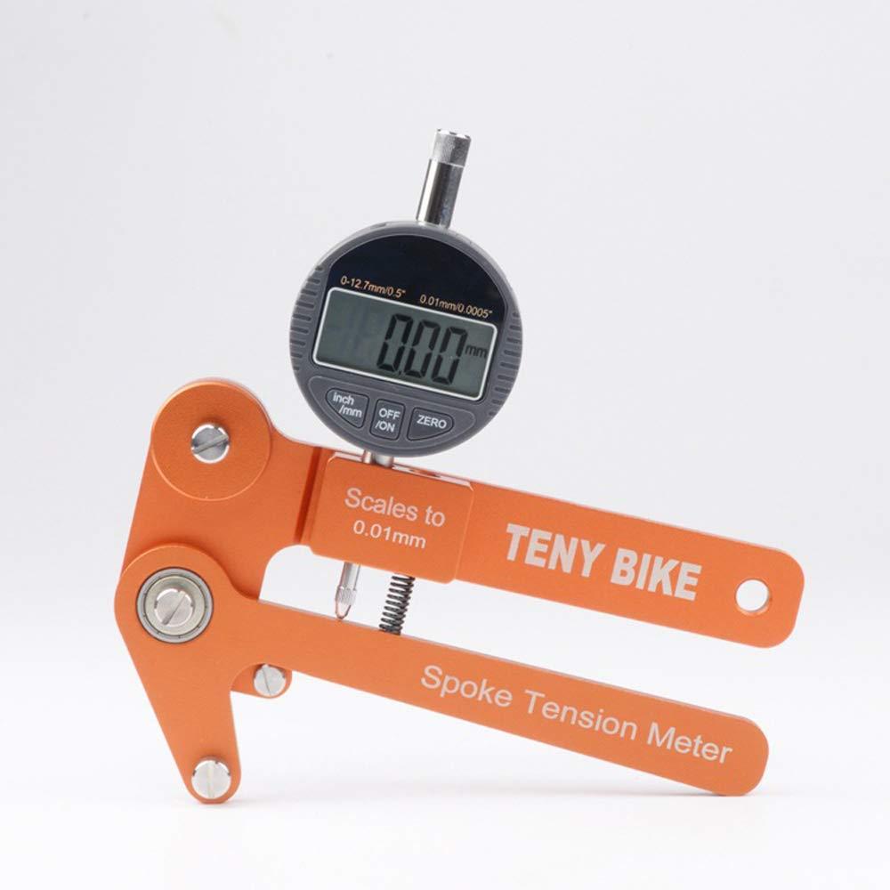 Tension Meter, KKmoon Aluminum Alloy Bike Spoke Tension Meter Wheel Builders Tool Bikes Indicator Tensiometer Scales to 0.01mm by KKmoon