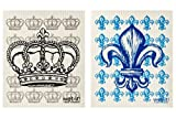 Wet-It Swedish Dishcloth Set of 2 (Fleur de Lis and Crown)