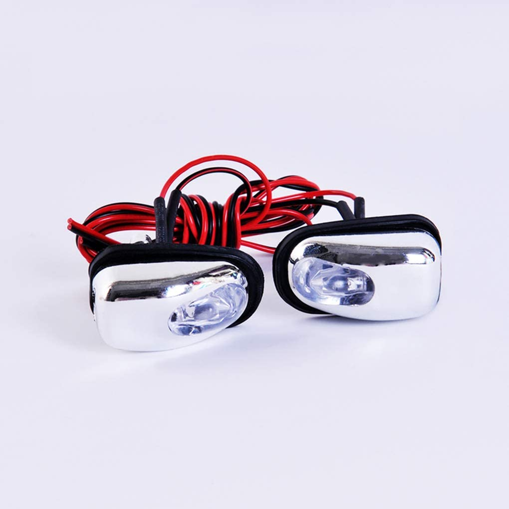 LafyHo 1 Pair Car LED Light Windshield Washer Wiper wiper jet light Car Jet Water Spray Nozzle Spout Wiper Washer Eye Lamp Styling Universal white