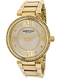 New York Goldtone Watch With Mother Of Pearl Di - Women's - Neutral