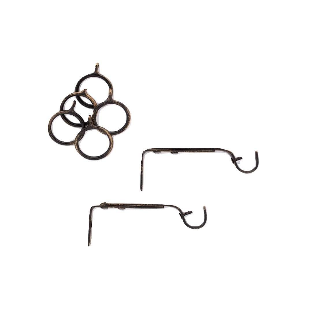 Linea Oro Bastone Tenda Estensibile Ferro Nero Rame - da cm 110 a cm 200 Spirale