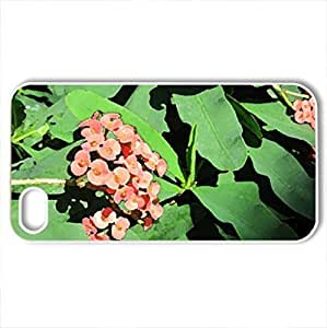 Amazing day at Edmonton garden 40 - Case Cover for iPhone 4 and 4s (Flowers Series, Watercolor style, White)