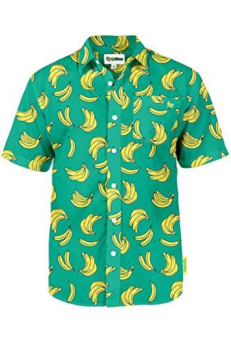 Tipsy Elves The Havana Banana Hawaiian Shirt: Medium