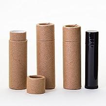1/3 OZ Kraft Paperboard Lip Balm/Salve/Cosmetic/Lotion Tubes x100