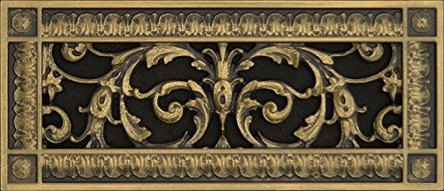 Decorative Vent Cover, Grille, Return Register, made of Urethane Resin, in French style fits over a 4