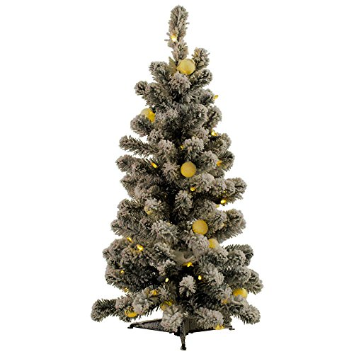 Artificial Christmas Tree. Fake 3 Foot Xmas Medium Flocked Premium Fir Looks Stylish With It's Classic Pine Shape, Dense Foliage, Tender White Needles. Great For Indoor Holiday Season Party Decor. by Artificial-Christmas-Tree