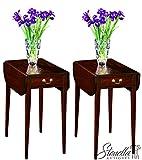 Pair Of Henkel Harris Model #5406 Federal Style Mahogany Pembroke Tables ~ NEW