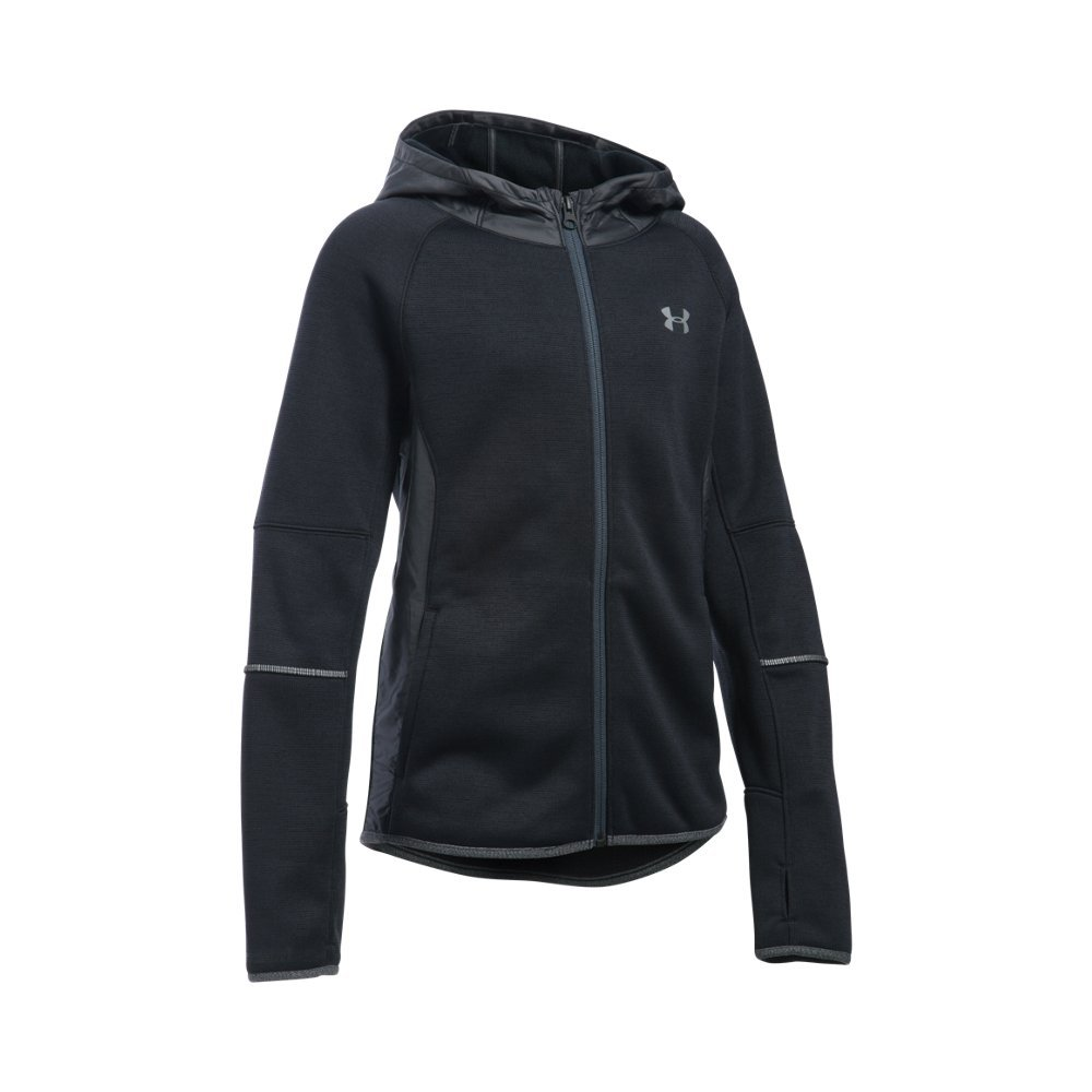 Under Armour Girls' Swacket, Black/Black, Youth X-Small