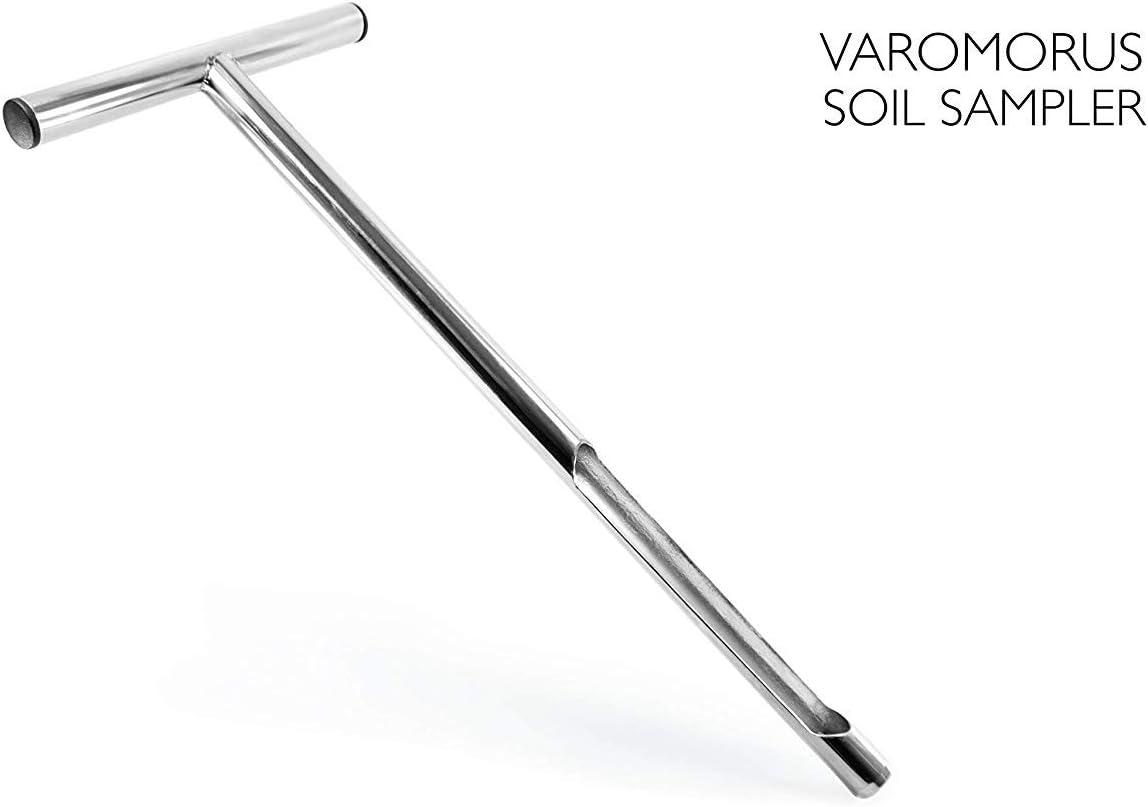 """Varomorus Soil Sampler Probe 21"""" Stainless Steel Tubular T-Style Handle."""