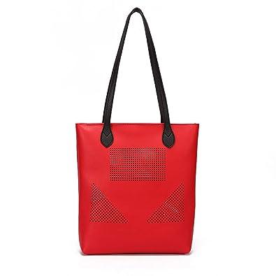 ddf33586e081 beautyR PU Messenger Bag Women Girls Handbag Bucket Bag Hollow Out ...